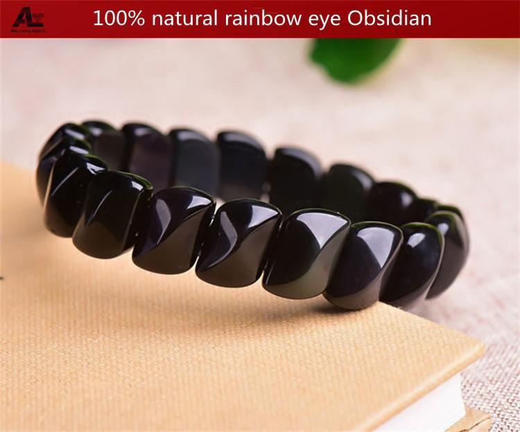 women obsidian bracelet (1)