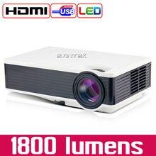 Byintek ML217 Новый USB 1800 люмен игры домашний кинотеатр светодиодный цифровой видео пико мини-проектор HD proyector projetor Бимер 1080 P
