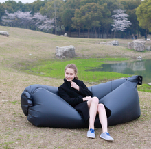 Outdoor and indoor bean bag air self inflated chair fashion sleeping bag Inflatable Bean Bag buy