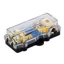1 шт. Универсальный Автомобильный авто Транспорт аудио усилитель 1 в 2 выхода 60A держатель предохранителя коробка