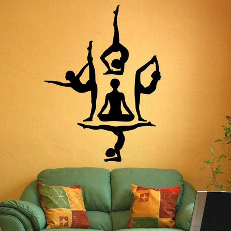 Yoga wall stickers Yoga Poses Simple Wall Viny Stickers decals are ...