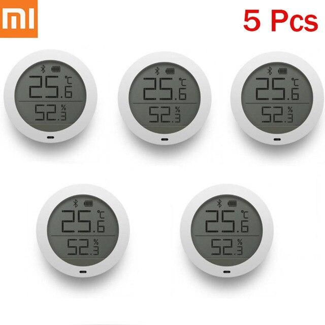 Original Xiaomi Mijia Bluetooth Hygrothermograph de alta sensibilidad de pantalla LCD higrómetro termómetro Sensor de uso con Mijia App H30