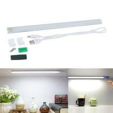 Dimmable 21 LED Touch Sensor Light Drawer Cabinet Wardrobe Bar Tube Lamp USB Camping