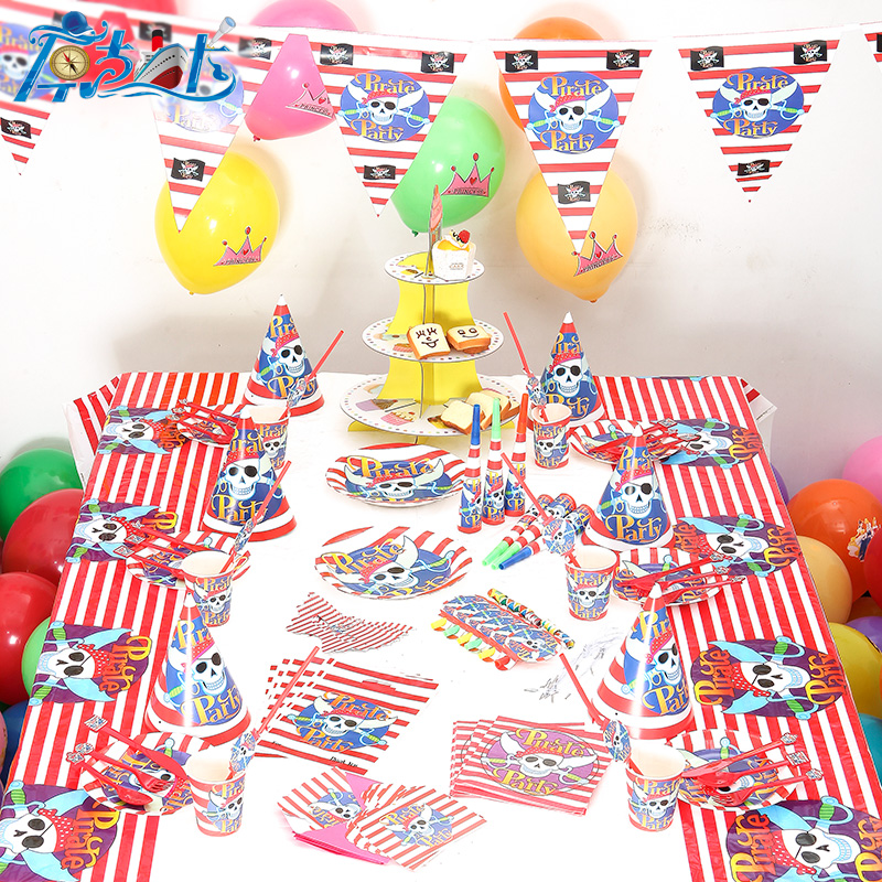 Event & Party Back To Search Resultshome & Garden Luxury 90pcs/lot New Kids Birthday Party Decoration Set Birthday Baby Pirate Theme Party Supplies Baby Birthday Party Pack