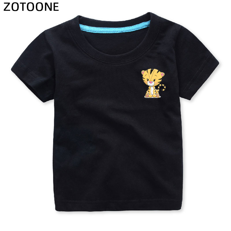 ZOTOONE Child Cute Animal Owl Set Heat Transfers for Clothes Applications DIY Iron on Transfer Patches Cute T shirt Sticker E in Patches from Home Garden
