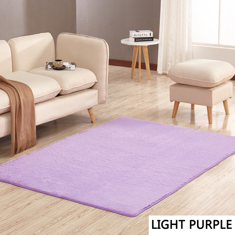 Us 5 27 40 Off Ehome New 2018 Rugs Anti Slip Light Purple Home Hotel Floor Carpets For Bedroom Living Room Doormats Modern Short Haired Rug In
