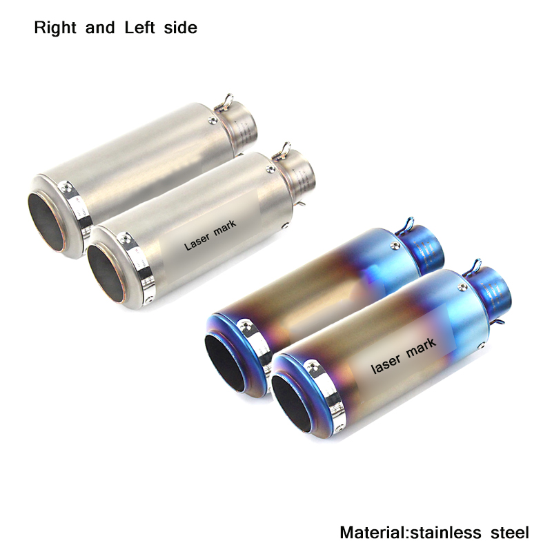 Moto Modified Right and Left Tail Stainless Steel Silencer System for 51mm Motorcycle Exhaust Muffler Tip Pipe With DB Killer in Exhaust Exhaust Systems from Automobiles Motorcycles