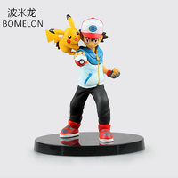 Ash Ketchum Pikachu Aciton Figures Character Model Anime Puppets Pocket Monster Figures Toys For Children Kids