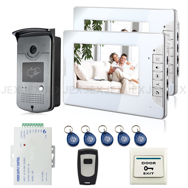 Brand New Wired 7 Home Video Door Phone Intercom System 2 Monitors + 1 RFID Access Door Camera + Remote Control FREE SHIPPING decleor fancy 250ml 38215