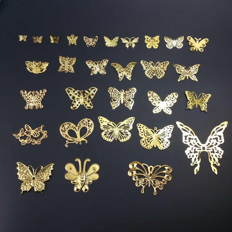 Retail Filigree Butterfly Wraps Connectors Embellishments Crafts Gift Decoration DIY Findings Clothing Accessorie