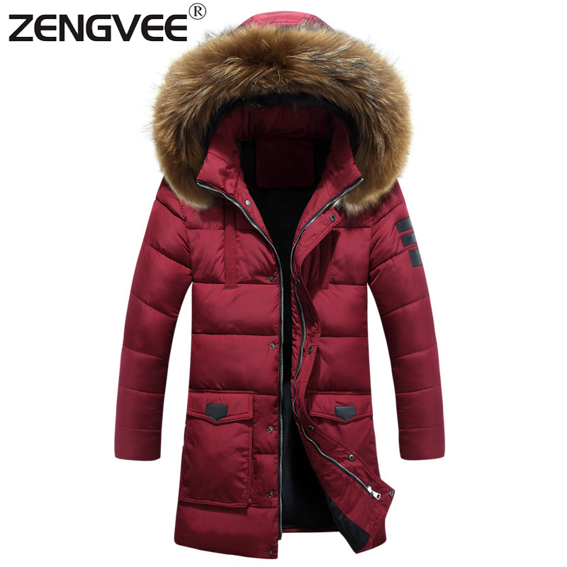 ФОТО New Arrive Brand Jackets Mens Hooded Thick Regular Clothing Length Soft Slim Zipper Solid Padded For Men Overcoat