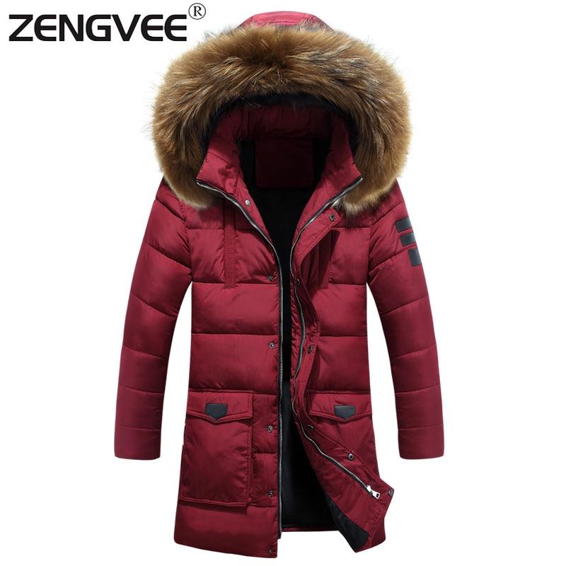 ФОТО New Arrive Brand Jackets Mens Hooded Thick Regular Clothing Length Soft Slim Zipper Solid Padded For Men Overcoat