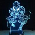 Spiderman 3D Candeeiro de Mesa presentes de natal Luz Da Noite Lâmpadas de Baterias Seco Bebê Criança Noturna USB Flexível Lamparas Mini Lampe Lampen