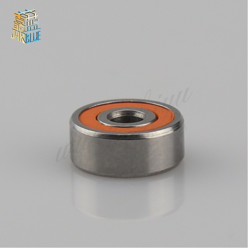 <font><b>6700RS</b></font> Bearing 10pcs 10x15x4mm Thin Section 6700-2RS Ball Bearings 61700 RS 6700 2RS With Orange Sealed A-1510DD ABEC-3 image