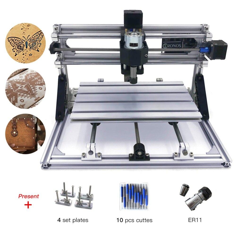 CNC3018 мини ЧПУ для лазерной гравировки DIY Pro GRBL Управление принтер лазерный гравер резак с ЧПУ древесины маршрутизатор с ER11 Pcb ПВХ