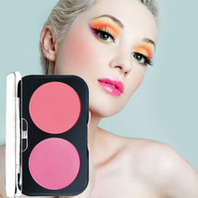 Kanbuder Blush Makeup Beauty Trim Rouge Plate With Bright Orange Pink Face Makeup Blush Powder Matte Pearl Make Up Face Blusher(China)