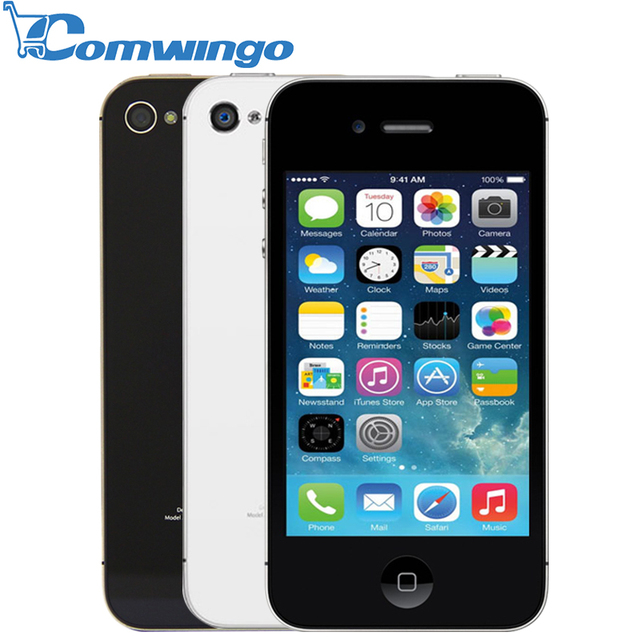 Original Unlocked Apple iPhone 4S phone 8GB/16GB /32GB ROM White Black iOS GPS WiFi GPRS Free Gift Free shipping 1 year warranty