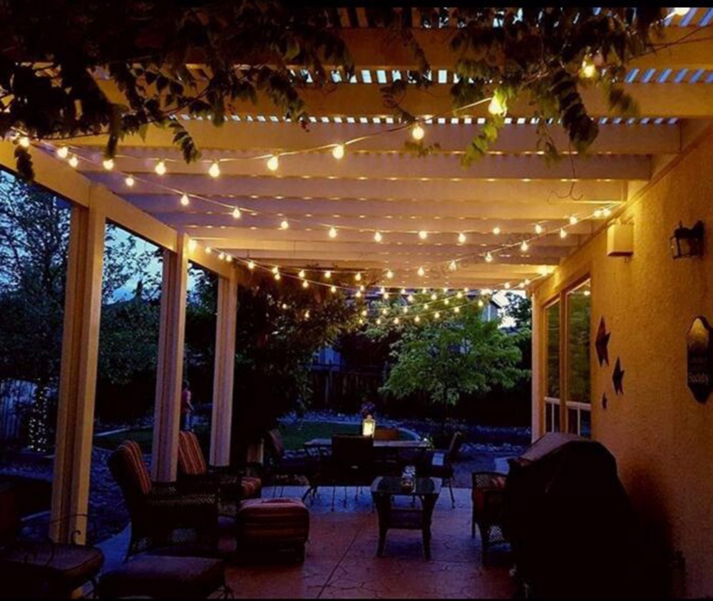 ... Globe String Lights With 25 G40 Bulbs   Backyard Patio Lights String, Outdoor  String Lights ...