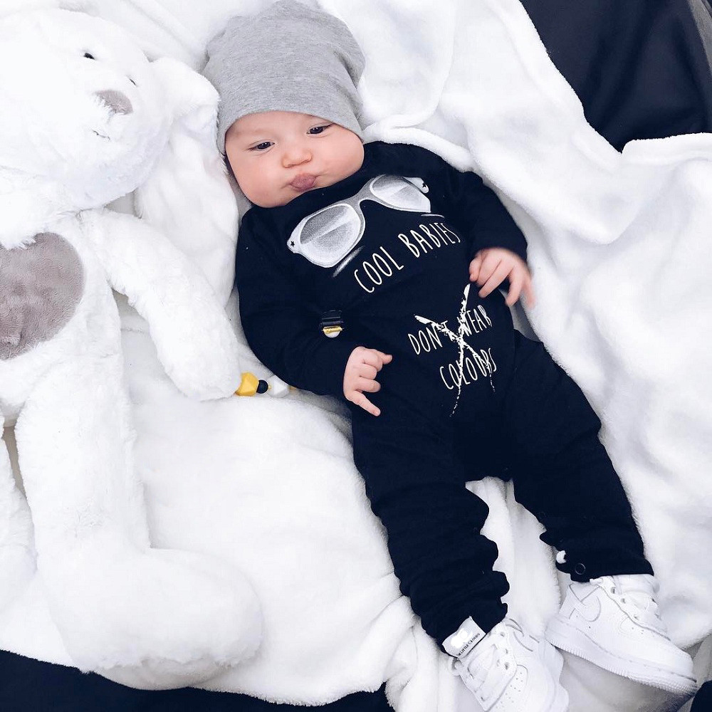 Newest   Romper   Baby Winter Clothes Newborn Infant Baby Boy Girl Long Sleeve Letter Print   Romper   Jumpsuit Clothes Baby Body Suit