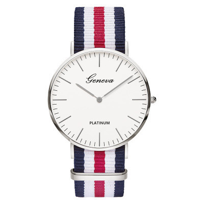 Relojes Mujer 2019 Top Brand Geneva Men Women Watches Unisex Dress Quartz Watch Nylon Rose Gold Clock Hot Montre Femme Horloge