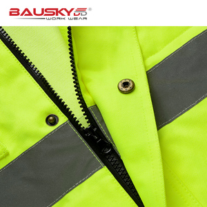 Image 5 - Bauskydd גבוהה נראות גברים חיצוני חולצות workwear רב כיסים בטיחות רעיוני עבודה מעיל משלוח חינם