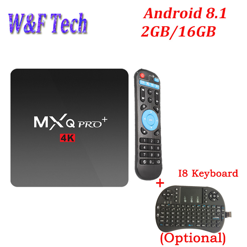 10PCS MXQ PRO PLus MINI Amlogic S905W Android 8 1 TV Box 4K 1G 8G Quad