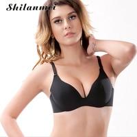 Push Up Bralette women Bra girls black seamless 3/4 cup sexy brassiere femme backless underwear ladies brasier mujer bras 2017