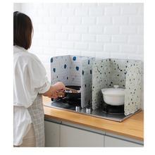 Защита от брызг доска с геометрическим принтом алюминиевая фольга блок барьер плита для приготовления пищи анти-брызг масло перегородка кухня гаджет