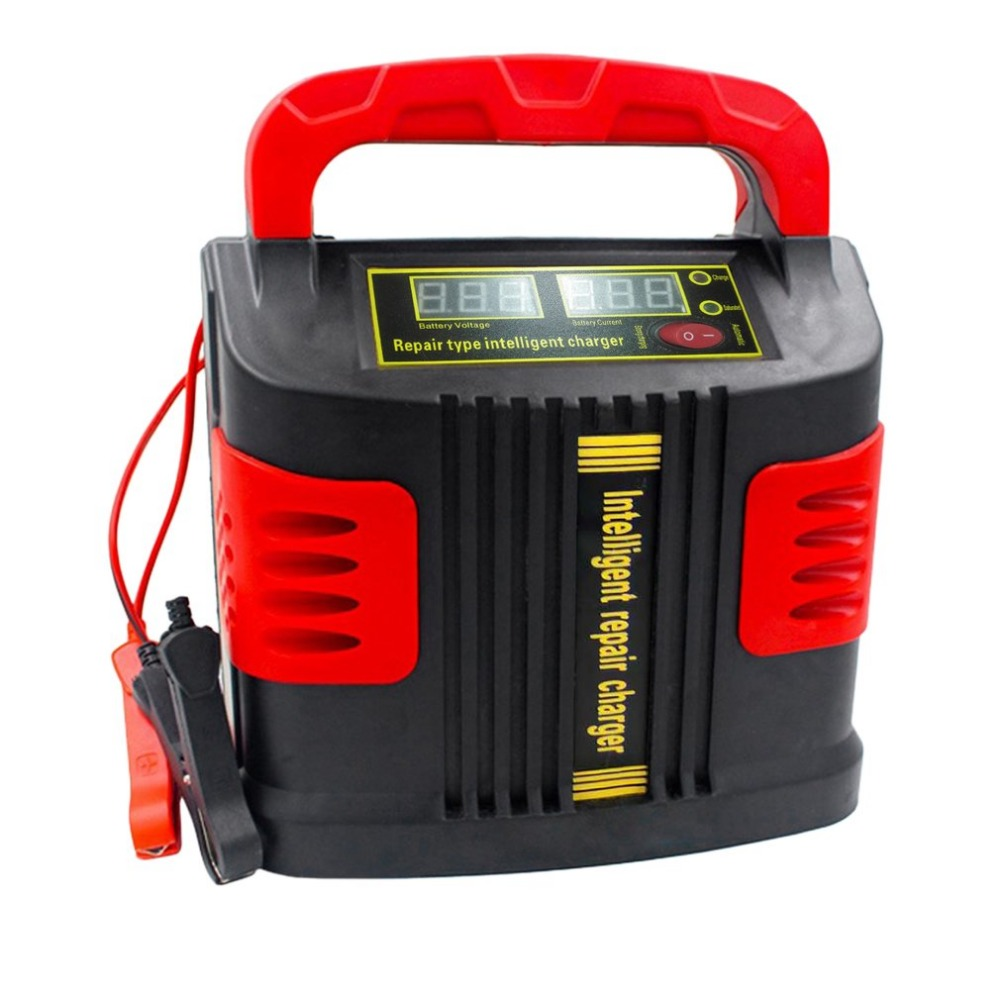Portable Intelligent Charger Auto Motor Vehicle Charger 350W 14A Auto Adjust LCD Battery Charger Car Booster