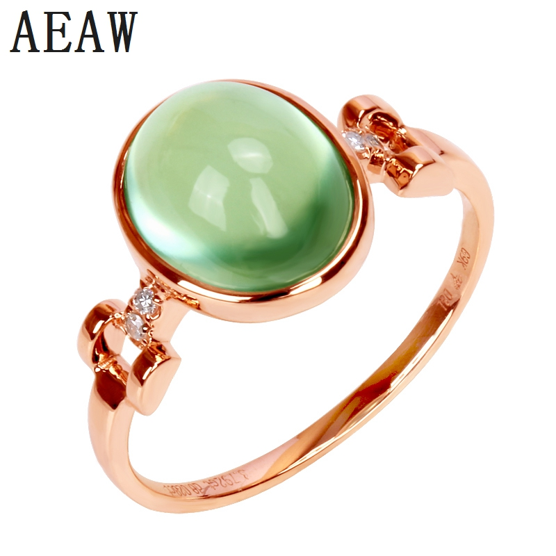 100% Natural Prehnite Rings For Women Fine Jewelry Green Oval 8*10MM Gemstone Adjustable Simple Ring 14k Rose Gold100% Natural Prehnite Rings For Women Fine Jewelry Green Oval 8*10MM Gemstone Adjustable Simple Ring 14k Rose Gold