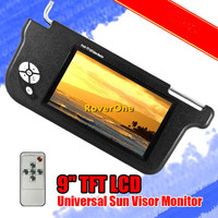 2 Pcs X 9'' Inch HD Automotivo Auto Car Sun Visor Sunvisor TFT LCD Screen Monitor Multimidia Multimedia Station Car Video