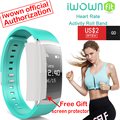 Original iwown i6 pro inteligente muñequera heart rate monitor ip67 a prueba de agua inteligente pulsera rastreador de fitness apoyo ios andriod