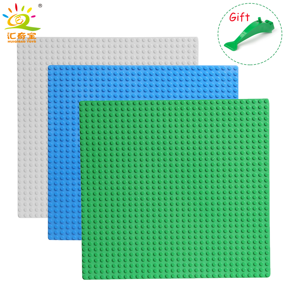 2Pcs Classic Base Plates Plastic Bricks Baseplates Compatible Legoed Major Brands Building Blocks Construction Toys 32*32 Dots 32 32 dots plastic bricks the island straight crossroad curve green meadow road plate building blocks parts bricks toys diy