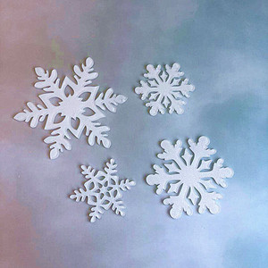 Image 5 - 4pcs Merry Christmas Acrylic Cake Topper Glitter White Snowflake Cupcake Topper For Christmas Party Cake Decorations Xmas 2019