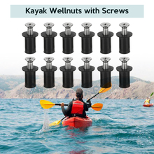High Quality 12 Set Well Nuts Blind Fastener Windscreen Rivet Fishing Kayak Canoe Boat Marine with Screw M4/M5/M6 Nut