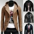 2016 nuevo estilo caliente hombres de La Moda trinchera abrigo Pequeño traje de los hombres cultivan su moralidad, incluso la tapa