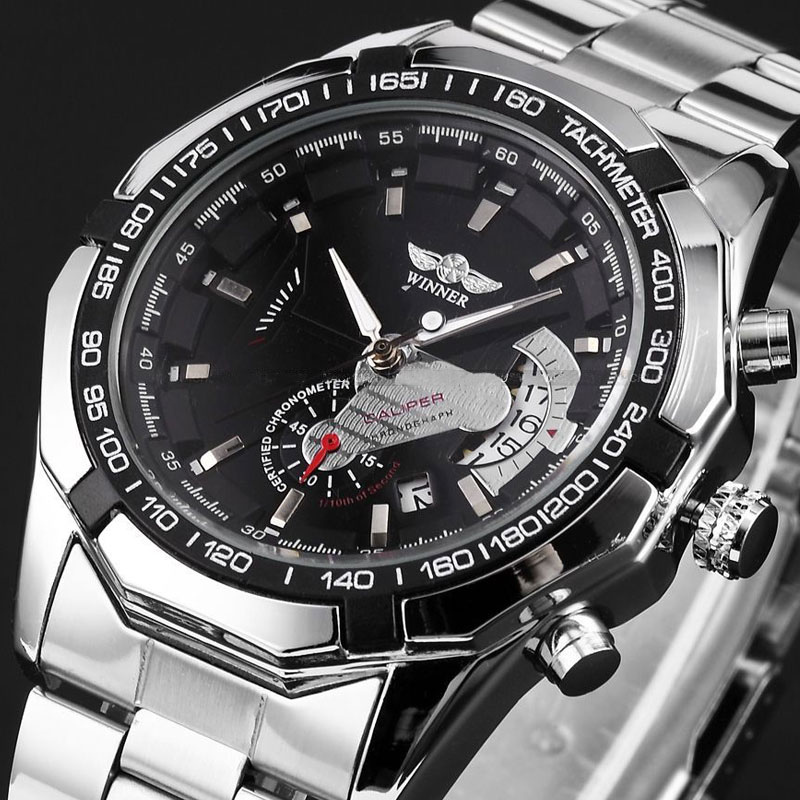 Mens Watches top brand luxury Winner Fashion Skeleton Clock Men Classic Sport Watch Automatic Mechanical Watch Relogio Masculino