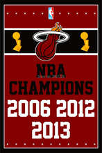 Miami Heat Champions Flag 3x5FT NBA banner 100D 150X90CM Polyester brass grommets custom66, Free Shipping