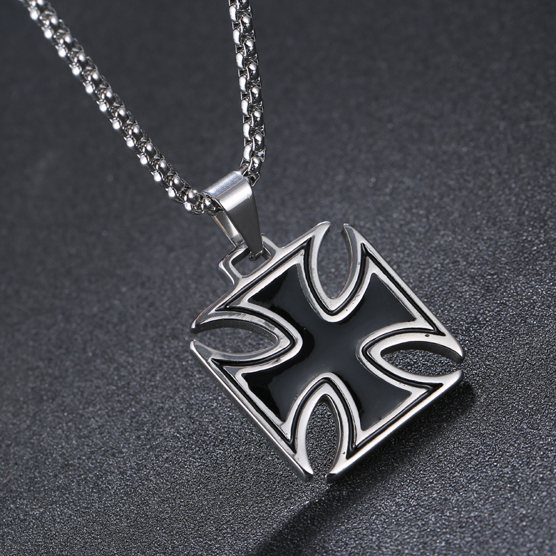 Mens necklace stainless steel vintage knights templar iron cross mens necklace stainless steel vintage knights templar iron cross pendant necklace women biker maltese cross jewelry 1109 in pendant necklaces from jewelry aloadofball Image collections