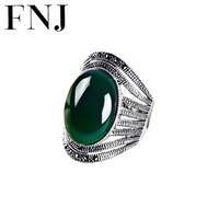Natural Yellow Green Stone Ring 925 Sterling Silver anillos Chalcedony Wedding S925 Thai Silver Rings for Women Jewelry