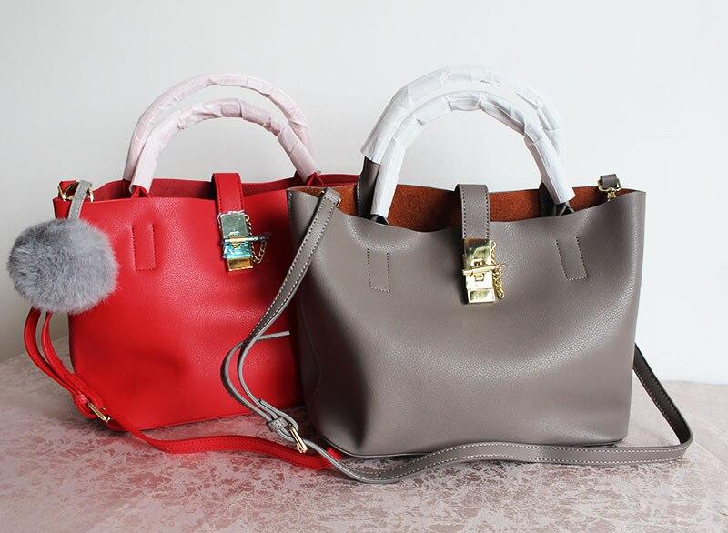 сумки для шопинга из натуральной кожи - Genuine Leather Bags For Women 2018Luxury Handbags Women Bags Designer Girls Bag Womens Handbags And Purses Women Shoulder Bag