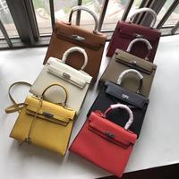 free shipping 2019 the new color genuine cow leather palmprint fashion trendy joker handbag &one shoulder and crossbody womenbag