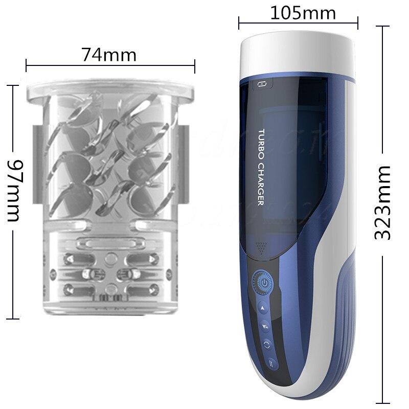 Automatic Piston Telescopic Rotate Voice Artificial Vagina Real Pussy Male Masturbator Strong Sucking Vibrator Sex Toys For Men