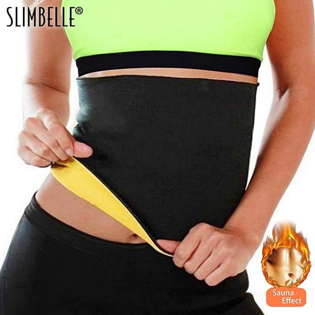 cb03b31409 Women Shaper Neoprene Abdominal Slimming Belt Sweat Sauna Black Shapewear  Body Shaper Belt Hot Shapers Waist Trainer Corset