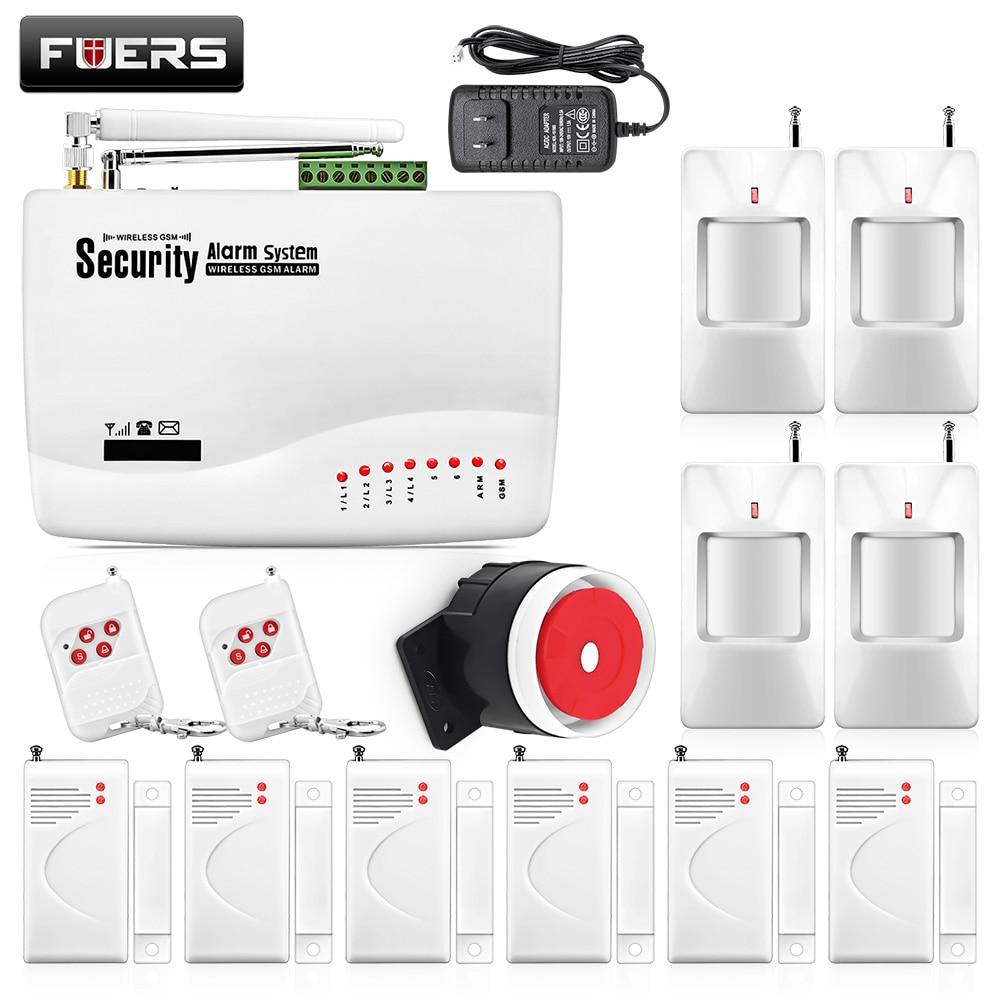 ФОТО New Two-antenna wireless 433MHZ Sensor Alarm System GSM smart home Burglar Security alarma Detector remote control arm/disarm