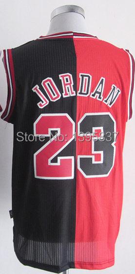 reputable site 8e1b0 128b6 23 Michael Jordan Split Basketball jersey,Men's Half and ...