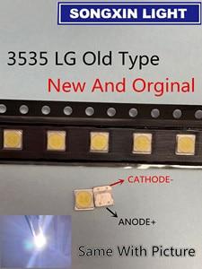 Image 1 - Für LG SMD LED 50PCS/Lot 3535 6V Kalt Weiß CHIP 2 2W Für TV/Lcd hintergrundbeleuchtung TV Anwendung 3535 LG Alte Art Orginal 3535 6v LED