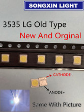 Pour LG SMD LED 50 pièces/lot 3535 6V blanc froid puce 2 2W pour TV/LCD rétro éclairage TV Application 3535 LG ancien Type original 3535 6v LED