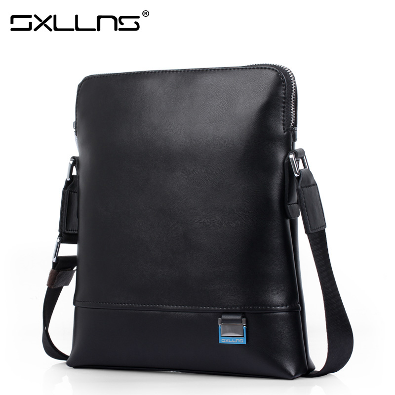2017 Hot Men Shoulder Bags Business Casual Genuine Leather Briefcase Sxllns Brand Handbag Men's Messenger Bag Free Shipping