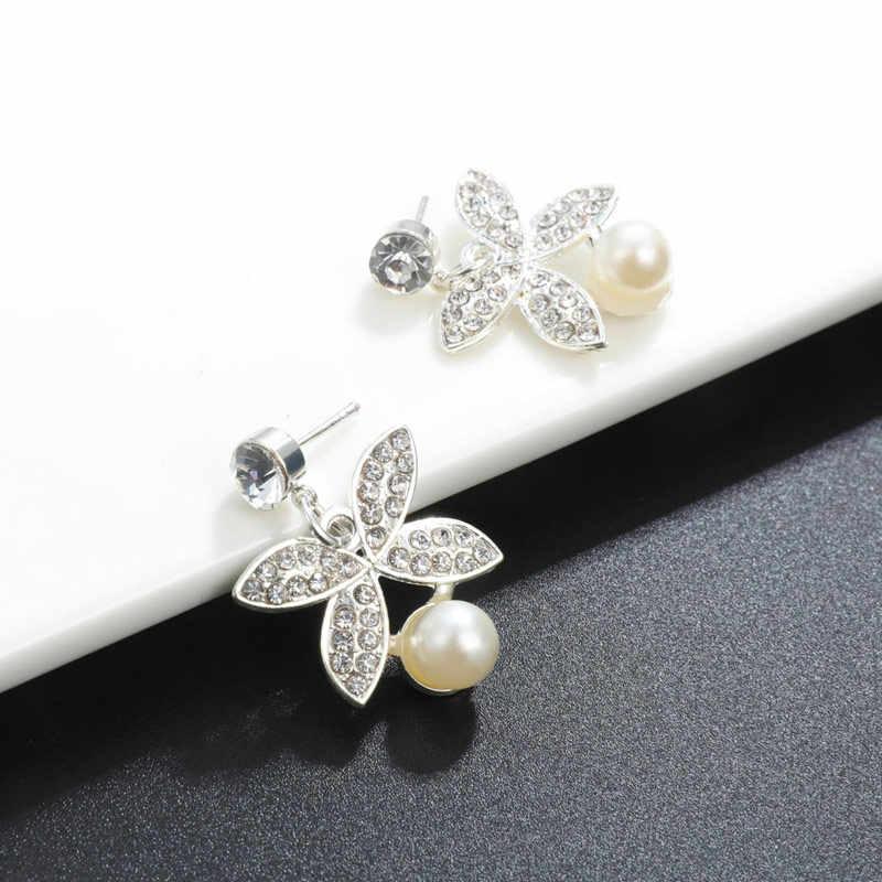 Hesiod ทองเงินเทียม Pearl ชุดเครื่องประดับไข่มุกต่างหูสร้อยคอชุดสร้อยข้อมือสำหรับงานแต่งงาน